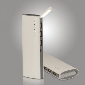 Power Bank Fast Charging LED Light 3 USB Output 10000mAh - White - 4