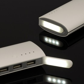 Power Bank Fast Charging LED Light 3 USB Output 10000mAh - White - 5