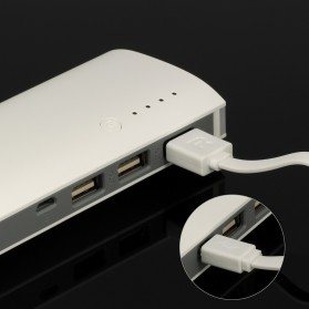 Power Bank Fast Charging LED Light 3 USB Output 10000mAh - White - 7