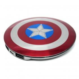 DGPOWER Power Bank Perisai Captain America 2 Port 6800mAh - CT68 - Red - 2