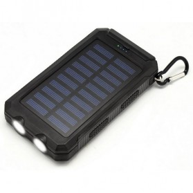 Sinofer Solar Power Bank 2 USB Port 12000mAh - Black - 1