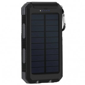 Sinofer Solar Power Bank 2 USB Port 12000mAh - Black - 3