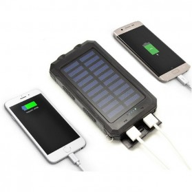Sinofer Solar Power Bank 2 USB Port 12000mAh - Black - 4