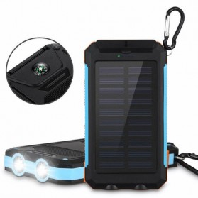 Sinofer Solar Power Bank 2 USB Port 12000mAh - Black - 7