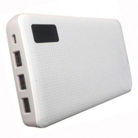Sinofer Power Bank 3 USB Port 20000mAh - White