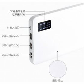 Sinofer Power Bank 3 USB Port 20000mAh - White - 6
