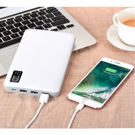 Sinofer Power Bank 3 USB Port 20000mAh - White - 10