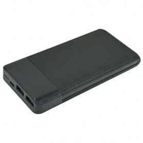 Sinofer Power Bank LCD Display Dual USB Port 10000mAh - SP12 - Black
