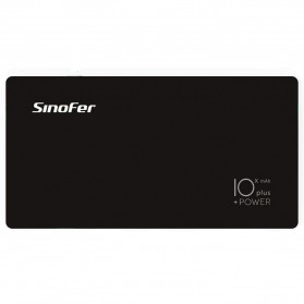 Sinofer Power Bank 2 USB Port 10000mAh Lightning and Micro USB - Black