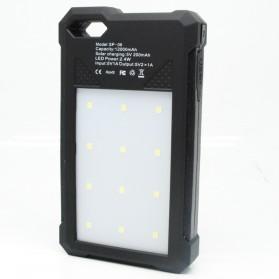 Power Bank 2 USB 12000mAh with Solar Panel - Black - 3