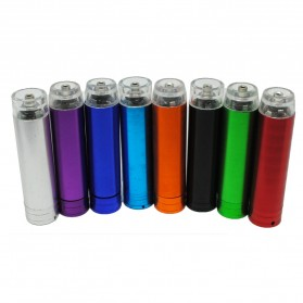 Case Power Bank Aluminium Baterai AA - Model 1 - Multi-Color