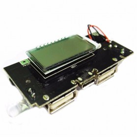 DIY Circuit Board 2 USB Port LCD Display 5V 1A 2.1A For Power Bank Case