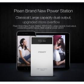 PISEN Power Bank LED Indicator 2 Port 10000mAh - White - 6