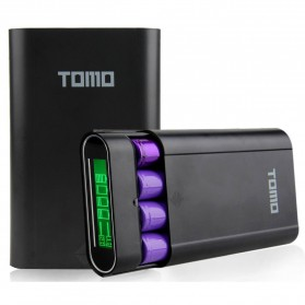 TOMO M4 DIY Power Bank Case 2 USB Port - Black - 1