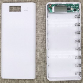 Taffware DIY Power Bank Case 2 USB Port & LCD 8x18650 - C13 - White