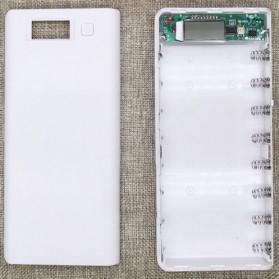 Taffware DIY Power Bank Case 2 USB Port & LCD 8x18650 - C13 - White - 1