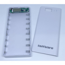 Taffware DIY Power Bank Case 2 USB Port & LCD 8x18650 - C13 - White - 2