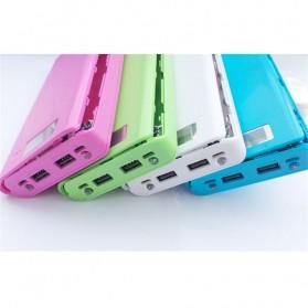 Taffware DIY Power Bank Case 2 USB Port & LCD 8x18650 - C13 - White - 5