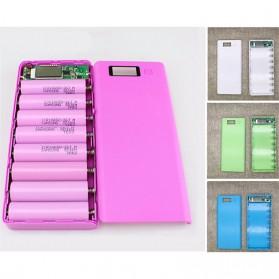 Taffware DIY Power Bank Case 2 USB Port & LCD 8x18650 - C13 - White - 6