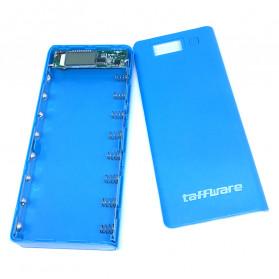 Taffware DIY Power Bank Case 2 USB Port & LCD 8x18650 - C13 - Blue - 2