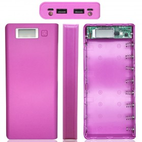 Taffware DIY Power Bank Case 2 USB Port & LCD 8x18650 - C13 - Blue - 5