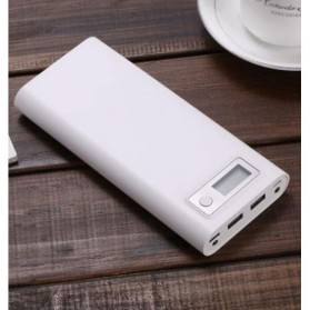 Taffware DIY Power Bank Case USB Type C Dual Output & LCD 8x18650 - C13 - White
