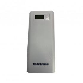 Taffware DIY Power Bank Case USB Type C Dual Output & LCD 8x18650 - C13 - White - 2
