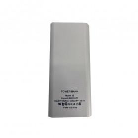 Taffware DIY Power Bank Case USB Type C Dual Output & LCD 8x18650 - C13 - White - 3