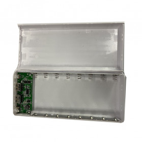 Taffware DIY Power Bank Case USB Type C Dual Output & LCD 8x18650 - C13 - White - 4