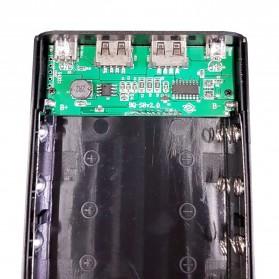Taffware DIY Power Bank Case USB Type C Dual Output & LCD 8x18650 - C13 - White - 5