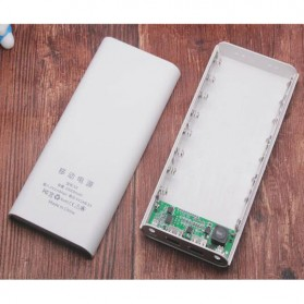 Taffware DIY Power Bank Case USB Type C Dual Output & LCD 8x18650 - C13 - White - 6
