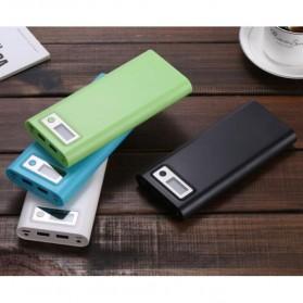 Taffware DIY Power Bank Case USB Type C Dual Output & LCD 8x18650 - C13 - White - 7