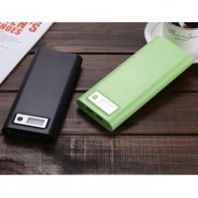 Taffware DIY Power Bank Case USB Type C Dual Output & LCD 8x18650 - C13 - White - 8