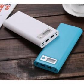 Taffware DIY Power Bank Case USB Type C Dual Output & LCD 8x18650 - C13 - White - 9