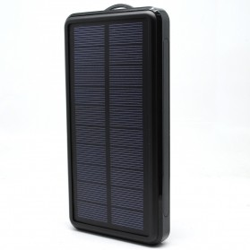 Solar Waterproof Power Bank 20000mAh - Black
