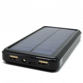 Solar Waterproof Power Bank 20000mAh - Black - 2