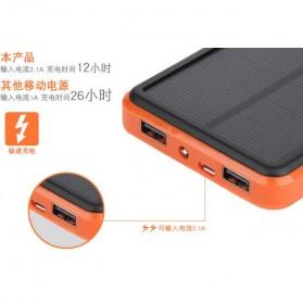 Solar Waterproof Power Bank 20000mAh - Black - 4