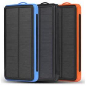 Solar Waterproof Power Bank 20000mAh - Black - 5