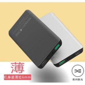 Sinofer Power Bank Ultra Thin Dual USB Port 10000mAh QC 3.0 - SP-18F - Black - 5