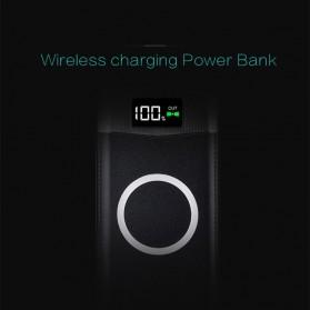 Taffware Power Bank Qi Wireless Charging 2 Port 10000mAh - W80 - Black - 2