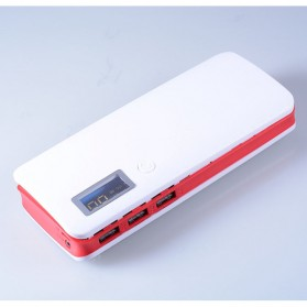 DIY Power Bank Case 3 USB Port with LCD Display - X5 - White/Red - 2