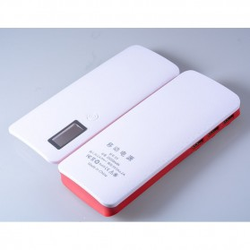 DIY Power Bank Case 3 USB Port with LCD Display - X5 - White/Red - 6