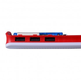 DIY Power Bank Case 3 USB Port with LCD Display - X5 - White/Red - 10