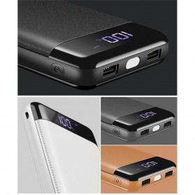 Power Bank Quick Charge 2 Port 20000mAh with LED Flash - M200 - Black - 4