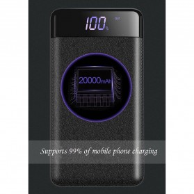 Power Bank Quick Charge 2 Port 20000mAh with LED Flash - M200 - Black - 7