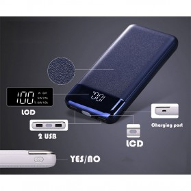 Power Bank Quick Charge 2 Port 20000mAh with LED Flash - M200 - Black - 10