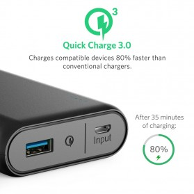 Anker PowerCore Power Bank 10000mAh QC 3.0 Upgrade with Power IQ - Black - 2
