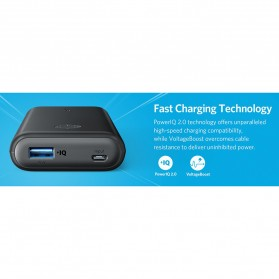 Anker PowerCore II Power Bank 10000mAh QC with Power IQ - Black - 10