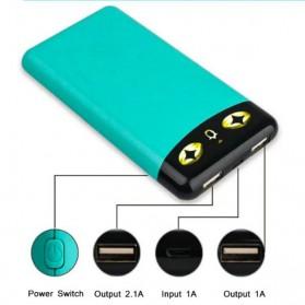 Sinofer Fashion Ultra Thin Power Bank 10000mAh - White - 5