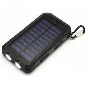 Sinofer Solar Power Bank 2 USB Port 12000mAh (backup) - Black